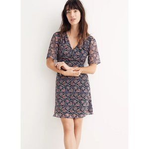 Madwell 8 Orchard Flutter-Sleeve Dress Fan Floral
